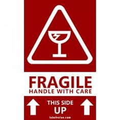 Glass Fragile Handle With Care Stickers Fragile Label, Shipping Label, Free Shipping, Literary Elements, Logo Sticker, Printing Labels, Journal Cards, Texts, How To Remove