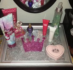 Princess Vanity Tray Perfume Tray by DipNDazzle on Etsy, $52.00