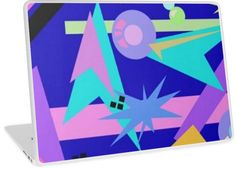 80's Retro Pastel Abstract Explosion | Design available for PC Laptop, MacBook Air, MacBook Pro, & MacBook Retina