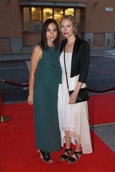 Maria Andersson and Moa Gammel both wearing #ReschiaShoes from #SS2015 #OpenToeBoot #CrossedFlatSandal @dv_guldknappen #guldknappen (www.reschia.com)