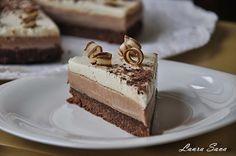 Tort fara coacere cu crema de cafea si mousse de ciocolata alba | Retete culinare cu Laura Sava