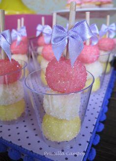 Espetinho de doces para mesa de guloseimas | #daJuuh