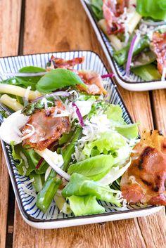 stuttgartcooking: Lauwarmer Spargel-Salat mit Pasta und Tiroler Spec...