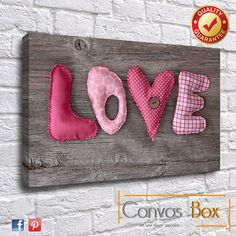 Shabby Chic Love Heart Box Framed Canvas Art Print by CanvasBoxUk