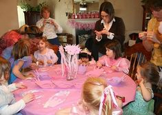 princess party with crafts -- wonder if 3 year olds will have the patience