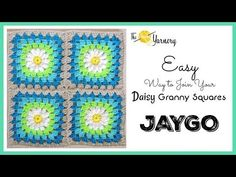 CROCHET How to Join Your Daisy Granny Squares: Easy Join As You Go Method - YouTube