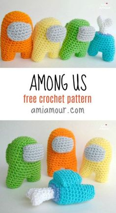 Crochet Among Us Amigurumis with this fun and free crochet pattern to follow. Be careful though, there may be an imposter among them! Video Tutorial also included! #freecrochetpattern #amongus #amigurumi #crochettutorial Crochet Dolls Free Patterns, Amigurumi Patterns, Crochet Designs, Knitting Patterns, Quick Crochet, Cute Crochet, Crochet Baby, Crochet Gifts, Crochet Toys