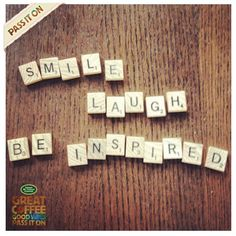 Be sure to check all three off of your list today. #smile #laugh #inspiration #quote