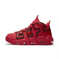 best website 8aeaf 9920a 2018 Fashion Nike Air More Uptempo QS Chicago University Red University  Red-Black AJ3138-