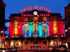 Union Station - a classic landmark in the wonderful city of Denver! This landmark was recently renovated, adding new dining and bars inside. This is a must-see in our book! Moving To Denver, Denver Travel, Travel Usa, Colorado Homes, Denver Colorado, Colorado Winter, Colorado Trip, Aspen Colorado, Colorado Mountains