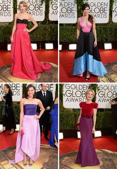 Golden Globes Gowns 2014 - our favourite colour blocking styles - Taylor Swift is one!