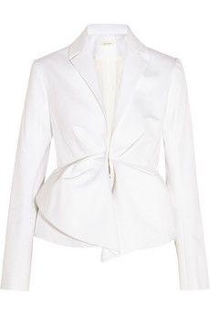 DELPOZO Cotton-blend jacket   NET-A-PORTER