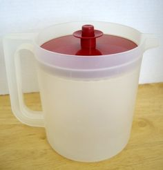 Vintage Tupperware Clear Pitcher