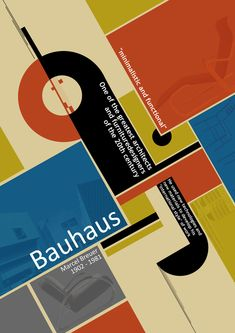 Bauhaus Poster by Annabel Grant Graphic Design Posters, Graphic Design Typography, Graphic Art, Poster Fonts, Typography Poster, Graphisches Design, Design Show, Layout Design, Art Journal Pages