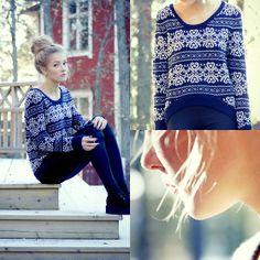 legging, blusa de lã e plataforma