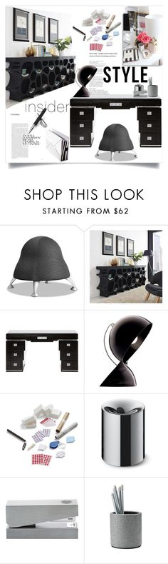 """Office Style"" by ildiko-olsa ❤ liked on Polyvore featuring interior, interiors, interior design, home, home decor, interior decorating, Safco, Artemide, Beyond Object and Tom Dixon"