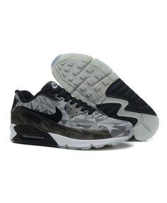 best service 9def0 bb69f Anniversary Nike Air Max 90 Ice Pack Men Grey Black Fluro Sneakers on Sale