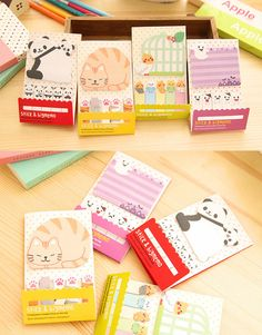 Cat Post It Pads – Big & Small Pieces