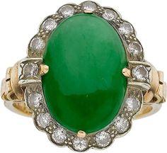 RP: Jadeite Jade, Diamond, Gold Ring