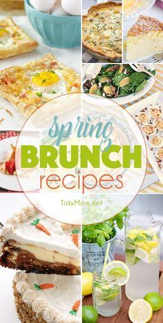 I'll never pass up good breakfast. Whether it's brunch, or breakfast for dinner, these weekend breakfast recipes are easy, yet good enough for guests! Spring Desserts, Spring Recipes, Easter Recipes, Spring Meals, Easter Ideas, Easy Brunch Recipes, Breakfast Recipes, Breakfast Ideas, Breakfast Dishes