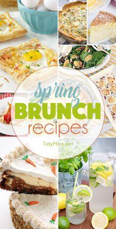 Spring Brunch Recipes at TidyMom.net