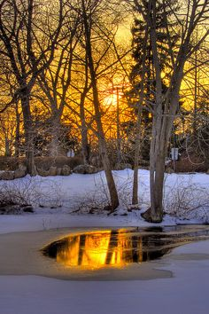 Winter sunset . Branford, Connecticut