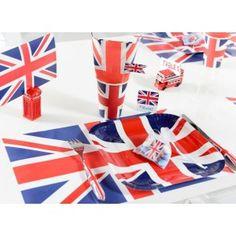 Set de table Angleterre drapeau Anglais (Union Jack) 26 cm x 40 cm pour déco de table. http://www.baiskadreams.com/2928-set-de-table-angleterre-drapeau-anglais-les-6.html