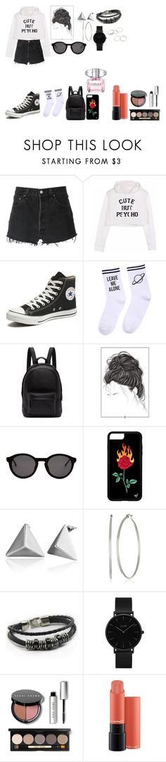 """""""Spice"""" by natalielena on Polyvore featuring moda, RE/DONE, Converse, Yeah Bunny, PB 0110, Thierry Lasry, CLUSE, Bobbi Brown Cosmetics, MAC Cosmetics ve Versace"""
