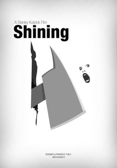 Shining | Minimal movie poster | Francesco Turlà