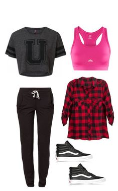 """follow me @cushite """"Dance Class (Hip-Hop)"""" by fashionhitts ❤ liked on Polyvore featuring Reebok, Vans, women's clothing, women's fashion, women, female, woman, misses and juniors"""
