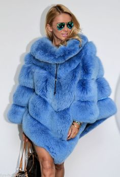 ROYAL SAGA FOX PONCHO FUR COAT JACKET FUCHS WIE ZOBEL SABLE MINK NERZ CHINCHILLA #LAFURIA #Ponchos ~ It is SO FUZZY, I am going to die!!