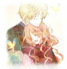 anime couple hakushaku to yousei :)
