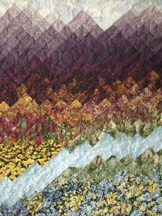 Wow! Watercolor effect with a lovely quilt design - this landscape is amazing!