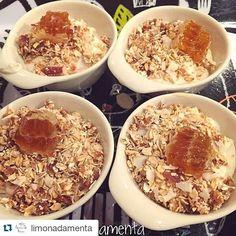 """Yogourt de castañas + granola + un toque de panal. Todo preparado por @limonadamenta   "" Photo taken by @beepurechile on Instagram, pinned via the InstaPin iOS App! http://www.instapinapp.com (08/07/2015)"