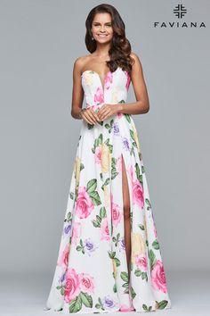 2a7a76cd6fc Faviana S10046. Floral Prom DressesA ...