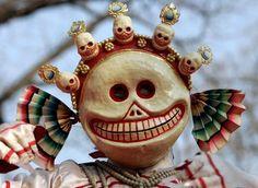 masque traditionnel tibétain de fantôme (moderne)