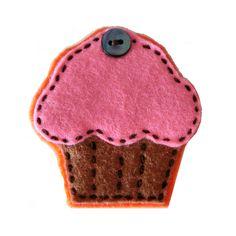 Broche fieltro cupcake