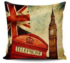 Almofadas Decorativa Londres Vintage