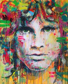 y Jim Morrison Pop Art, Oil Painting Abstract, Acrylic Painting Canvas, Murciano Art, Teal Wall Art, Frida Art, Paintings Famous, Oil Paintings, Drawn Art