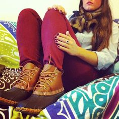 Christmas come faster so I can get me some of these Perfect Wardrobe, New Wardrobe, Winter Wardrobe, Ll Bean Boots, Emma Style, College Outfits, Classy Dress, Colorful Fashion, Southern Charm