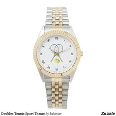 Doubles Tennis Sport Theme Wristwatch