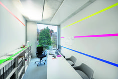 indirect light for the office Lighting Project Chappuis & Delarive, Pully, Architects Lausanne, Red Dot Design, Luminaire Design, Office Lighting, Light Project, Office Interiors, This Is Us, Awards, Architecture