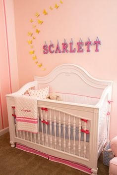 DIY hanging name letters for baby nursery