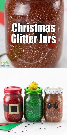 Making a glitter jar is an easy and fun mindfulness activity for kids of all ages, and these Christmas Glitter Jars are Christmas Balls Diy, Christmas Jars, Christmas Crafts For Kids, Xmas Crafts, Homemade Christmas, Christmas Projects, Simple Christmas, Christmas Glitter, Christmas Activities For Preschoolers