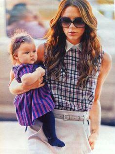 Celebrity Mum Victoria Beckham spotted with baby Harper Seven