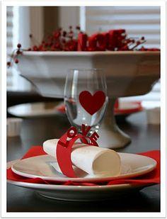 idea per #decorare la #tavola di #san valentino
