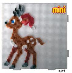 HAMA - PERLER BEADS / PERLES à REPASSER / STRIJKPARELS - Santa Reindeer Hama mini perler pattern
