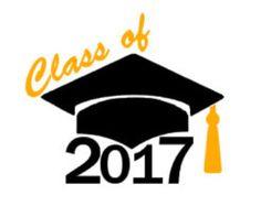 Graduation Class of 2017   Graduation cap decal   Etsy