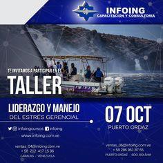 @InfoingCursos #planificación   TALLER LIDERAZGO Y MANEJO DEL ESTRÉS GERENCIAL * 7 de octubre del 2017 * Puerto Ordaz, Venezuela  INFOING * Teléfonos: Caracas: + 58 (212) 417.1536 / Puerto Ordaz: + 58 (286) 961.8765 * Correo: ventas_04@Infoing.com.ve * Twitter: @InfoingCursos * http://www.Infoing.com.ve   #gerencia #PuertoOrdaz #InCompany #Presencial #expodato #Pzo