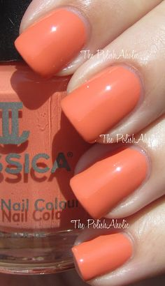 The PolishAholic: Jessica Summer 2012 Gelato Mio Collection Swatches. I want this on my toes!